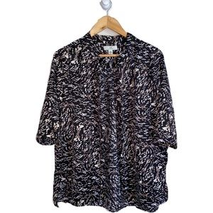 3/30$ H by Halston Abstract Confettis Print Blouse